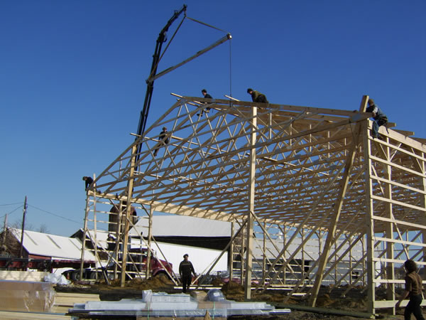 Pole Barn Construction Pictures How To Build Your Own